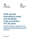 Draft Code of Practice SEND