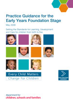 Practice guide for early years foundation stage cover