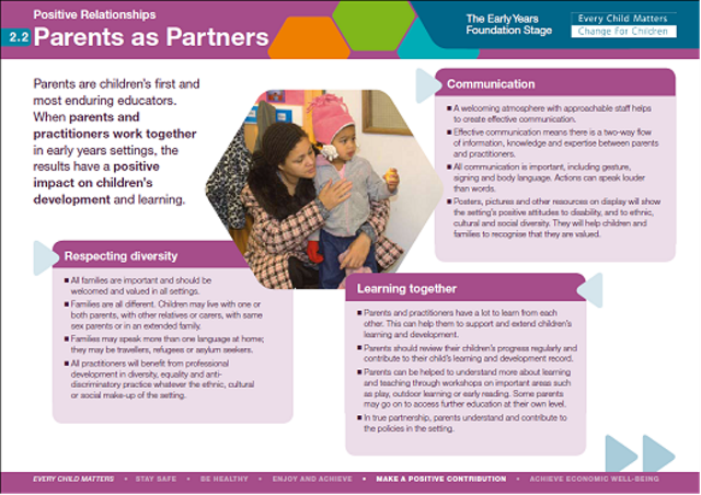 explain and demonstrate how parents are engaged as partners in their children s early learning In the early years, parents can help children develop the skills to be better students by playing with them yes, as they enter kindergarten and the elementary years, children need to have some understanding of letters and numbers.